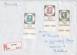 PAYS-BAS 1967 LETTRE RECOMMANDEE DE PETTEN POUR BONN - 1949-1980 (Juliana)