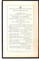 Faire-part Décès Fanélie De La PORTE Du THEIL - Comtesse De GIBON - Château De Grainville 5/5/1895 - Obituary Notices