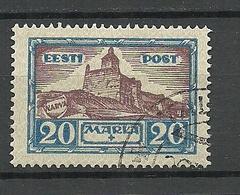 Estland Estonia Estonie 1927 Michel 66 O Signed - Estonie