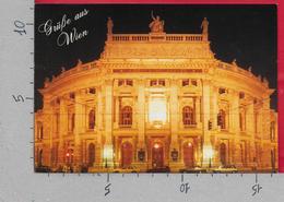 CARTOLINA NV AUSTRIA - Grube Aus WIEN - VIENNA - Night Notturno - 11 X 16 - Saluti Da.../ Gruss Aus...