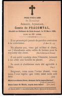 Faire-part Décès Armand Comte De PRACOMTAL - Château De Bois-Vavenel 23/3/1880. - Obituary Notices