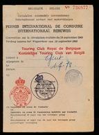 PERMIS INTERNATIONAL DE CONDUIRE - TOURING CLUB ROYAL DE BELGIQUE  ( BELGIQUE )   VOIR SCANS - Documents Historiques