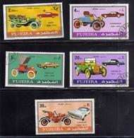 FUJEIRA 1970 CLASSIC MOTOR CARS AUTOMOBILI SERI SET USATA USED OBLITERE' - Fujeira