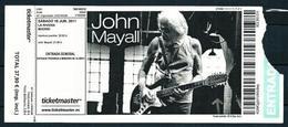 John Mayall (Entrada) - Concerttickets