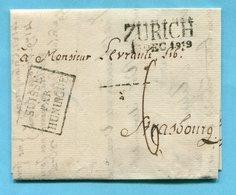Faltbrief Von Zürich Nach Strasbourg 1819 - ...-1845 Préphilatélie
