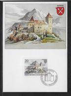 Thème Architecture - Liechtenstein - Carte Maximum - Architecture