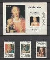 MiNr. 941 - 944 (Block 79) Grenada 1978, 20. Dez. Weihnachten: Gemälde. - Grenada (1974-...)