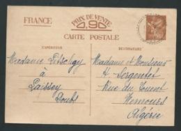 Entier Yvert  Cp2 Oblitéré Cad Laissey - Doubs  En 1941  LX3008 - Marcophilie (Lettres)