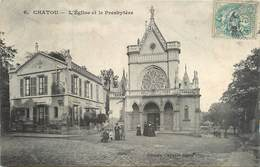 CPA Chatou-L'église Et Le Presbytère                     L2770 - Chatou