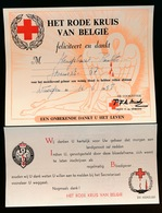 BEDANKING VAN HET RODE KRUIS VOOR BLOEDGEVEN 1958 - Documents Historiques