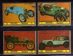 MANAMA 1972 OLD CARS AUTO D'EPOCA COMPLETE SET SERIE COMPLETA USATA USED OBLITERE' - Manama