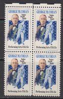 USA 1978 George M. Cohan 1v Bl Of 4 ** Mnh (41838C) - Verenigde Staten