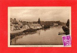 CPA - NOGENT-sur-SEINE (10) - Aspect De La Seine Et De La Rue De L'île Olive Dans Les Années 30 / 50 - Nogent-sur-Seine