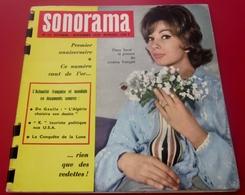 Magazine Sonorama N°12-Oct 1959-Musique Disque Vinyle Format Spécial-Dany Saval-Algérie-De Gaulle-Kroutchev Pubs - Formats Spéciaux