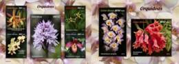 Z08 GB190101ab Guinea Bissau 2019 Orchids Flowers Blumen MNH ** Postfrisch Set - Guinea-Bissau