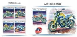 Z08 GB190107ab Guinea Bissau 2019 Motorcycles MNH ** Postfrisch Set - Guinea-Bissau