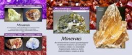 Z08 MOZ190101ab Mozambique 2019 Minerals Mineralien MNH ** Postfrisch Set - Mineralien