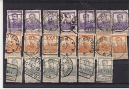 SAMENSTELLING ALBERT I-112,113,115,116,117,118,120 TOTAAL 36 ZEGELS - 1912 Pellens