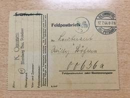 FL2875 Deutsches Reich 1944 Karte Von Blumberg Mit Zensur An Die Feldpost - Allemagne