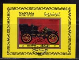 MANAMA 1972 OLD CARS AUTO D'EPOCA MORS CAR 1900 USATO USED OBLITERE' - Manama