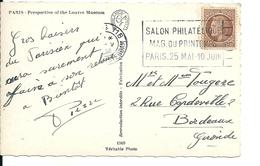 Carte Paris Avec Oblitération Salon Philatélique Du Printemps , 1946 - France