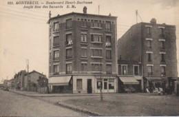 93 MONTREUIL  Boulevard Henri Barbusse Angle Rue Des Savards - Montreuil
