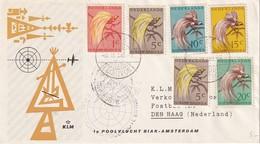 PAYS-BAS 1958 LETTRE DE BIAK 1ER VOL BIAK-AMSTERDAM - 1949-1980 (Juliana)