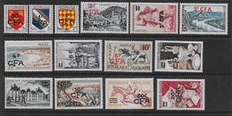 Réunion - Série  307 à 319  **  - Cote : 215 € - Réunion (1852-1975)