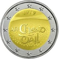 Ierland 2019  2 Euro Commemo  Dail Eireann 100 J 1ste Zitting Van Het Parlement 100ième Anni. Du Session Du Parlement !! - Irlanda
