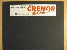 T002 / Ardoise Ancienne En Carton CREMOR PORT SALUT - Autres Collections