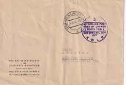 ALLEMAGNE 1949 ZONE ANGLO-AMERICAINE LETTRE EN FRANCHISE DE KÖLN - Zone Anglo-Américaine