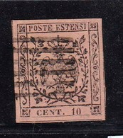 MODENA-Catalogo Sassone N° 2a - 10 Cent. Rosa Vivo - Usato - Modena