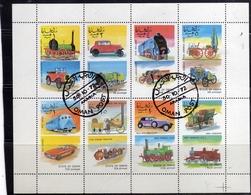 OMAN STATE 1974 VINTAGE CARS AUTO D'EPOCA BLOCK SHEET BLOCCO FOGLIETTO BLOC FEUILLET USATO USED OBLITERE' - Oman