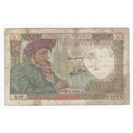 FAY 19/09 - 50 FRANCS JACQUES COEUR - 24/04/1941 - TRES BEAU - PICK 93 - - 1871-1952 Anciens Francs Circulés Au XXème
