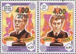 Tajikistan 2016 Chess Botvinnik Fisher OVPT 2v MNH - Schaken