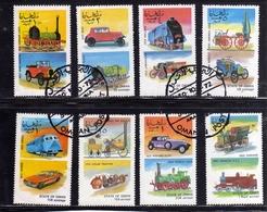 OMAN STATE 1974 VINTAGE CARS AUTO D'EPOCA COMPLETE SET SERIE COMPLETA USATA USED OBLITERE' - Oman