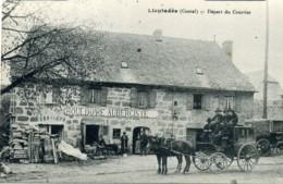Lieutadès (Cantal). Départ Du Courrier. Bouldoire Aubergiste. (Attelage, Diligence) - France
