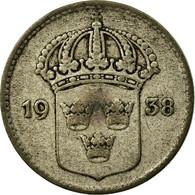 Monnaie, Suède, Gustaf V, 10 Öre, 1938, TB, Argent, KM:780 - Suède