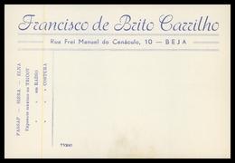 BEJA - PUBLICIDADE - «Francisco De Brito Carrilho» Carte Postale - Beja