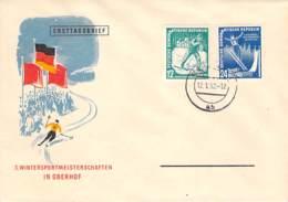 R DDR 1952 FDC Mi.Nr. 298-99, 3. WINTER SPORTMEISTERSCHAFTEN IN OBERHOF - DDR