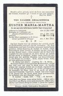 DOODSPRENTJE ZUSTER VAN CRAEYNEST ° ICHTEGEM 1890 KLOOSTER DER ZUSTERS PREDIKHEERESSEN + DOMINICUS GESTICHT BRUGGE 1913 - Devotion Images