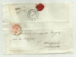 FRANCOBOLLO 3  KREUZER 1857  SU FRONTESPIZIO - 1850-1918 Keizerrijk