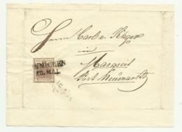 FRANCOBOLLO 6  KREUZER INNICHEN   1852  SU FRONTESPIZIO - Usati