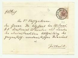 FRANCOBOLLO 6  KREUZER FELDKIRCH  1852   SU FRONTESPIZIO - Gebruikt