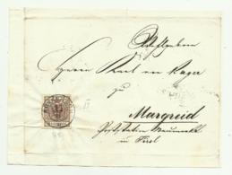 FRANCOBOLLO 6 KREUZER KOTSCHACH  1853   SU FRONTESPIZIO - Oblitérés
