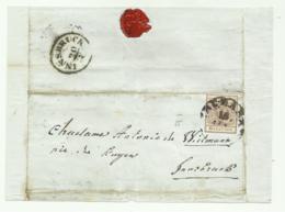 FRANCOBOLLO 6 KREUZER   1855   SU FRONTESPIZIO - Gebraucht