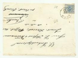FRANCOBOLLO 9  KREUZER   1857   SU FRONTESPIZIO - 1850-1918 Empire