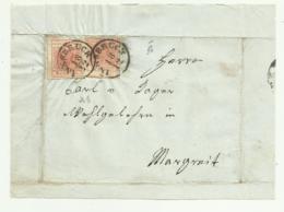 2 FRANCOBOLLI 3 KREUZER 1856 SU FRONTESPIZIO - 1850-1918 Keizerrijk