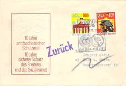 R DDR 1971 FDC  Mi.Nr.1691-92 10 Jahre Berliner Mauer Stempel ZURUCK Und UNZULASSIG - DDR