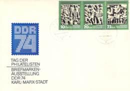R DDR 1974 FDC  Mi.Nr.1988-90 + 2005 - FDC: Briefe